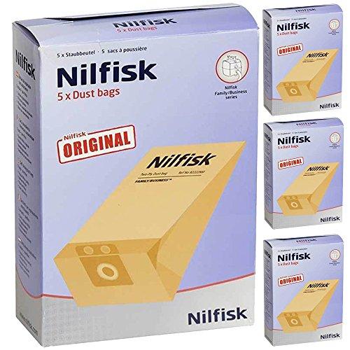 Original Nilfisk Family Vac Serie Staubsauger Dual Filter Staubbeutel (20Stück)