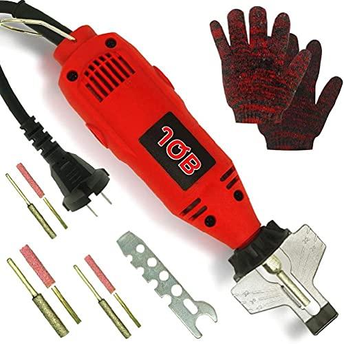 Kit de afilador de motosierra eléctrico 110 voltios, portátil, de mano, universal, cadena, herramienta de afilado de dientes para motosierras, extra 3 brocas de diamante, herramienta de afilado de die