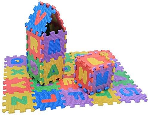 Puzzle espuma para niños, 36 piezas Soft Safe Durable EVA Multi-Color Foam Play Mat Números Letras Bebé Niños Niños jugando Crawling Pad Juguetes, bebés Alfombra para niños pequeños