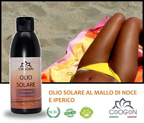 Chogan - Aceite solar de cáscara de nuez e hipérico, 150 ml,...