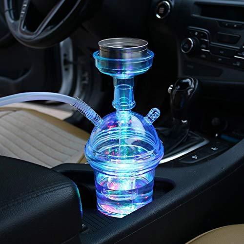 Neue tragbare Led Light Shisha Shisha Tasse für Auto Chicha Travel Rauchen Shisha Custom Shisha Sheesha