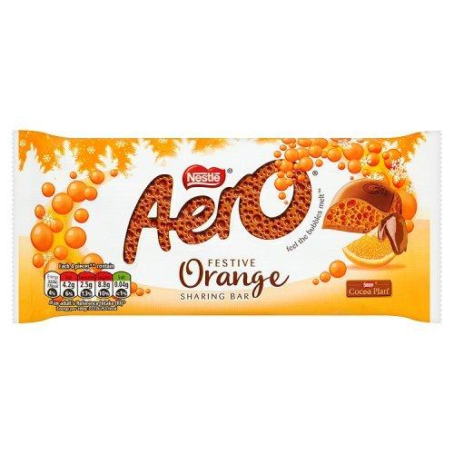 Nestle Aero Festive Orange (5 x 100g Sharing Bars)