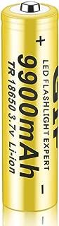 1 PC 3.7V Nueva batería Recargable de Iones de Litio 18650 9900mah Original protegida para Linterna LED antorchas Gadgets electrónicos (Amarillo) (Togames)