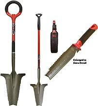 Radius Garden 38911 Root Slayer 3-Piece Metal Detecting Shovel Set, Three, Red