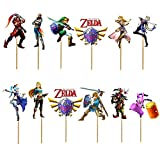 24PC LEGEND OF ZELDA LINK PARTY CUPCAKE TOPPER CAKE TOPPERS DECORATION THEME BIRTHDAY A2