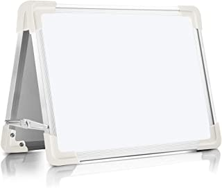 Magnetic Dry Erase Board for Kids, OUSL 16X12'' Small Desktop Foldable Reminder Board Magnet White Board Double-Sided Portable Whiteboard Easel for Children