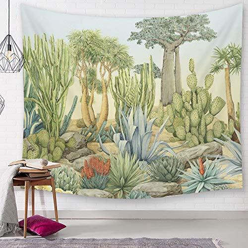 Blätter Tropical Tree Tapisserie Wandgewebe Natur Palme Landschaft Kaktus Bild Wandtuch Wandteppiche Tischdecke Strand A3 95x73cm