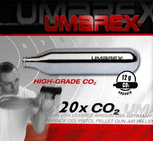 20 UMAREX 12g Co2 Kapseln für Softair, Painball, Luftpistolen oder Luftgewehre