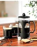 Rosenstein & Söhne French Press Teebereiter: Kaffee- & Teebereiter Set mit 2 Tassen, 600ml (Kaffeedrücker)