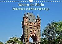Worms am Rhein - Kaiserdom und Nibelungensage (Wandkalender 2022 DIN A4 quer): Mit der sehenswerten Stadt Worms verbinden die meisten Menschen den Kaiserdom, Luther,die Nibelungensage und die Nibelungenfestspiele. (Monatskalender, 14 Seiten )