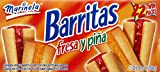 Marinela Barritas Strawberry and Pineapple Filled Cookies: 44 Packs of 1.87 Oz