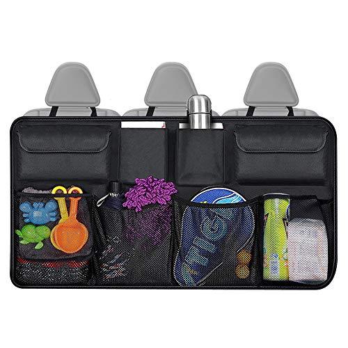 Kofferraum Organizer Auto, Auto Aufbewahrungstasche Wasserdichtes Organizer Auto mit 8 Taschen, Strapazierfähiges, Faltbares Ladungsnetz für die Rücksitzabdeckung des Autos