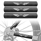 NICEDACK Protector de Vaina de biciProtector de Vaina de Bicicleta,Bicicleta de Ciclismo Guardia de Cadena Calcomanías de calcomanías Calcomanía Cadena de Bicicleta Guardia para (3 Pack)