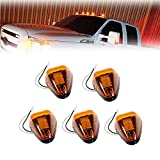 Amber Lens Yellow LED Cab Marker Lamps Running Lights Assembly For 1999-2016 Ford F-250 F-350 F-450 F-550 Super Duty 2017 2018 E-350 E-450 Super Duty Pickup Truck