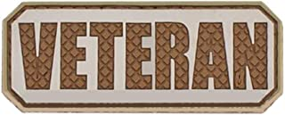 Morton Home Veteran PVC Hook and Loop Morale Patch Military Combat Armband Clothing Badge for Jackets Jeans Hat Cap (Desert)