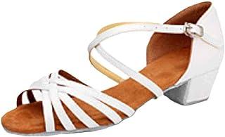 Yefree Chaussures de Danse Latine pour Filles Chaussures à Bride de Cheville Creuses Chaussures de Sport à Enfiler