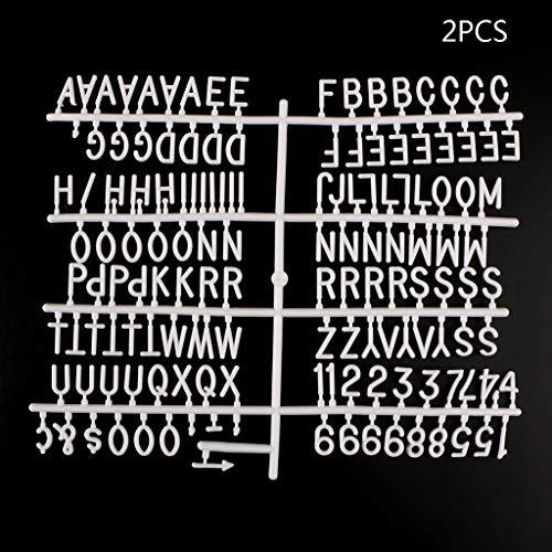 ZOOMY Caracteres para el Tablero de Letras de Fieltro Números de 290 Piezas para el Tablero de Letras Intercambiables - Blanco