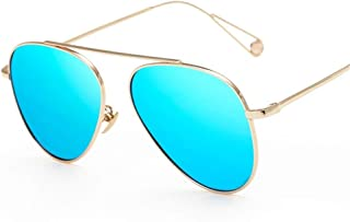 ZMP Outdoor Seaside Sunscreen Quality Ladies Polarized Sunglasses (Color : Blue)