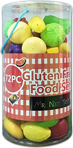 Mr. Nice Toy 72 Piece Gluten Free Play Food Set $7.59 (49% Off)