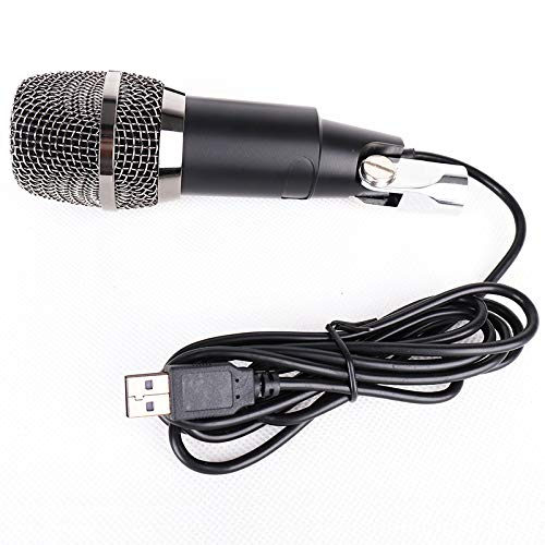 HTMSR USB PC Mikrofon Kondensator Mikrofon, NASUM, Podcast Microfon, Computer Standmikrofon Aufnahmemikrofon Microphone für Studio Aufnahmen Skype YouTube mit Ständer,Schwarz