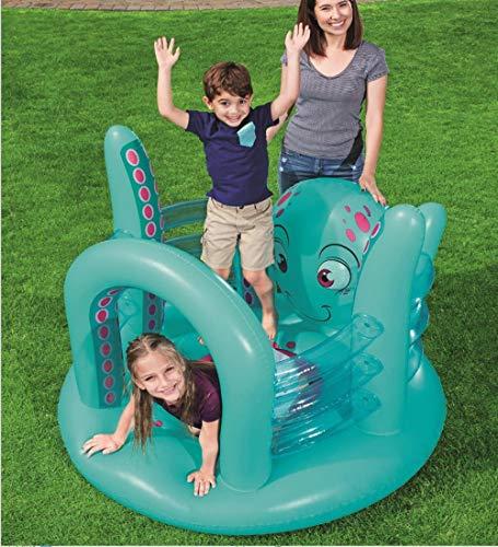 ZJJ Aufblasbares Babytrampolin, krakenförmiges Hausschloss, geeignet für 3-6-Jährige zum Spielen im Gartenhof im Freien