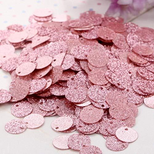 6mm 10mm 20mm glitter pailletten platte ronde PVC pailletten met flash poeder voor ambachtelijke lentejuelas para manualidades 20g, roze, 6mm 20g
