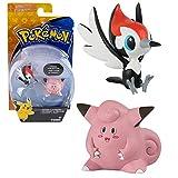 Pokemon Selezione Battle Pack Tomy | 2 Pezzi Set | Action Figures, Figure di Gioco:Pikipek vs. Clefairy