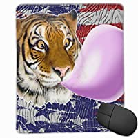 マウスパッド 面白い虎 ゲーミング オフィス最適 高級感 おしゃれ 防水 耐久性が良い 滑り止めゴム底 ゲーミングなど適用 マウスの精密度を上がる( 22*18*0.3cm )