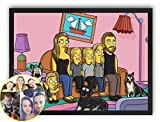 iToonify - Simpsons Poster, Turn into a Simpsons Cartoon Character on Poster, Custom Simpsons Family Portrait, Photo To Cartoon
