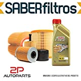 Kit tagliando auto, kit quattro filtri e 5 litri olio motore Castrol Edge 5W30 (KF0006/fo)