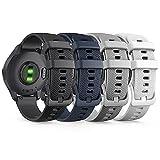 TUSITA Rilascio Rapido Cinturino 18mm per Garmin Legacy Saga Series - Rey, Captain Marvel, Vivoactive 4S, Vivomove 3S, Venu 2S - Braccialetto in Silicone di Ricambio - Accessori Smart Watch