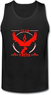 ZhiBo Red Fire Bird Design Tank top for Mens