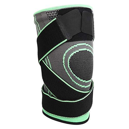 Rodillera de compresión deportiva al aire libre Cinturón fijo Rodillera Entrenamiento físico Equipo de protección para hombres y mujeres(green-XXL)