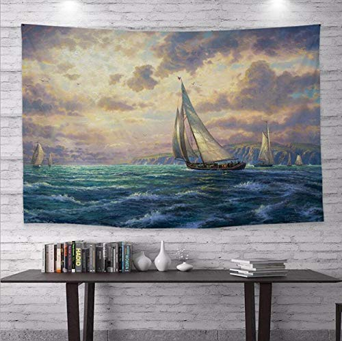 WSPZZWY Tapestries Van Gogh Oil Painting Abstract Art Multifunctional Decoration Wall Hanging Living Room Bedroom Background Cloth Tablecloth Sofa Cushion B 80 * 120Cm