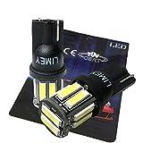 LIMEY T10 LED ポジションランプ ホワイト 白 6000K 爆光 5W ブラックボディ ポジション灯 ナンバー灯 10連 ledバルブ 2個入