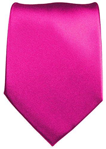 Cravate homme uni rose 100% soie