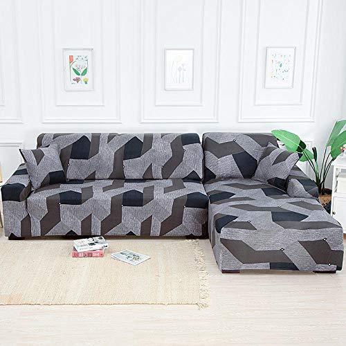 Allenger 1 Protector Elástico para Muebles,Fundas De Sofá De Esquina Geométricas para Sala De Estar, Sofá Elástico Elástico Towel-5_145-185Cm