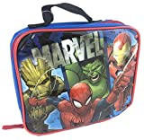 Groot, Spider-Man, Incredible Hulk, Iron Man Vinyl Insulated Lunch Bag Lunchbox Tote