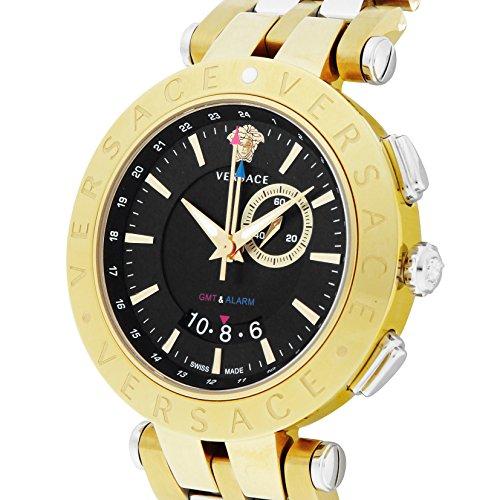 [ヴェルサーチ] 腕時計 V-RACEGMTALARM ブラック文字盤 テンレス/ステンレス(YGPVD) GMT機能 29G79D009S079 並行輸入品