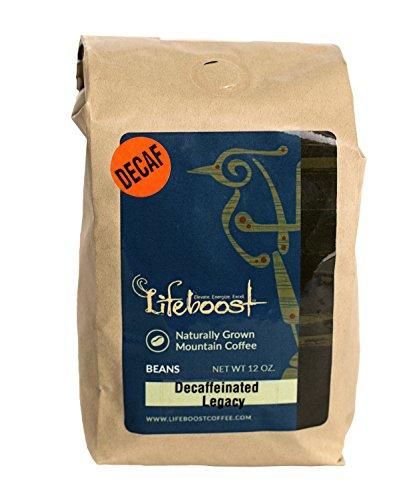 LifeBoost Organic Decaf Coffee Beans - Premium Fair Trade Single Origin Nicaragua Coffee Beans - 12 oz Pumpkin Spice Decaf