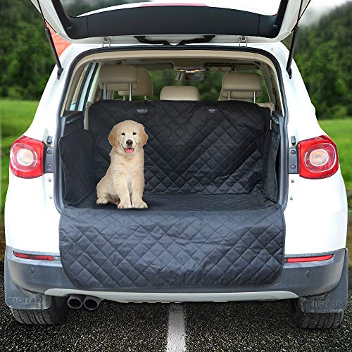 Arkmiido Cargo Liner for SUVs and Cars, Waterproof Dog Cargo Cover Mat with Side Walls Protector for SUV, Washable Durable Pet Cargo Liner - Universal Fit