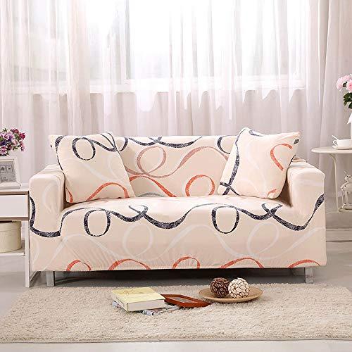 ASCV Funda de sofá Tight Wrap Stretch Funda de sofá Toalla de sofá para Muebles Sillón Sofá seccional Estilo L Fundas A20 Funda de cojínx2