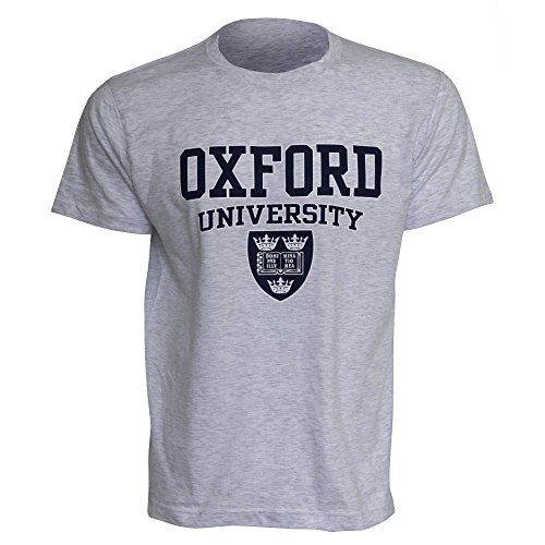 Oxford University - T-Shirt à Manches Courtes - Homme (M) (Gris Sport)