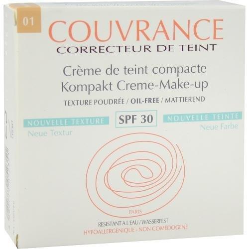 Avène Couvrance Kompakt Creme-Make-up mattierend 01 Porzellan, 9,5 g