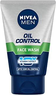 NIVEA Men Face Wash for Oily Skin, Oil Control for 12hr Oil Control with 10x Vitamin C Effect, 100 g