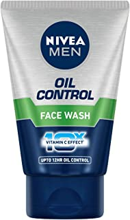 NIVEA MEN Face Wash, Oil Control, 10x Vitamin C, 100g