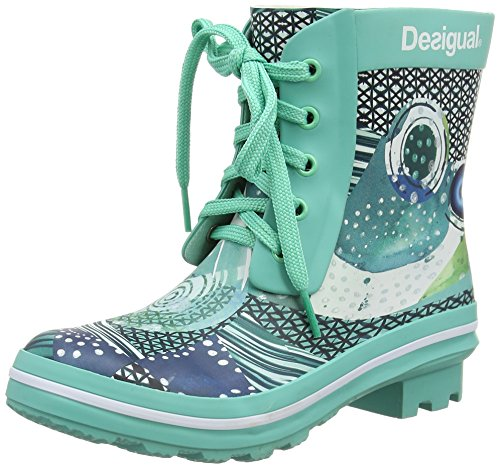 Desigual Shoes_caiqu, Bottines Femme, Turquoise 5013, 39 EU