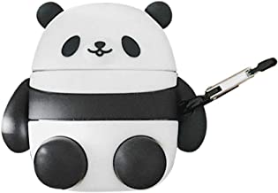 BONTOUJOUR AirPods Case, Super Cute Creative Lovely Sitting Round Fat Panda AirPods Case, Panda Baby Soft Silicone Earphone Protection Skin for AirPods1&2+Hook-Sitting Panda