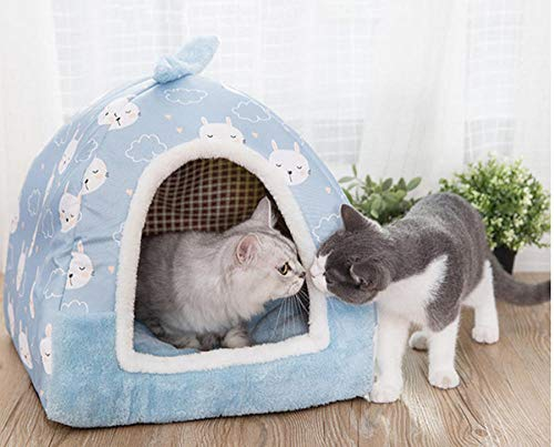 Hondenhok Pet Housedog Kennel Voor Katten Warm Wasbaar Pet House Cat Puppy Nest Cave Yurt Tent Mat Kussen Dierbenodigdheden Hondenkennel Kennel Sofa