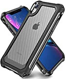 iPhone XR Case with [ Screen Protector Tempered Glass